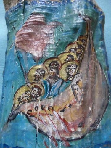 Evelyn Landorff Malerei auf Treibholz